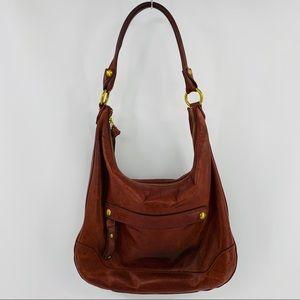 Frye Red Brown Leather Shoulder Bag